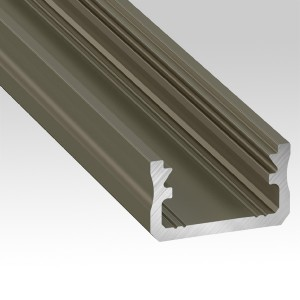 Surface-mounted aluminium profiles