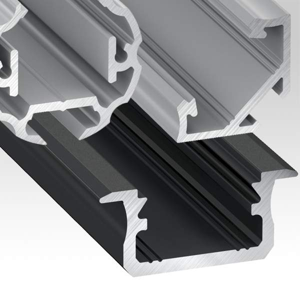 Aluminium profiles, accessories