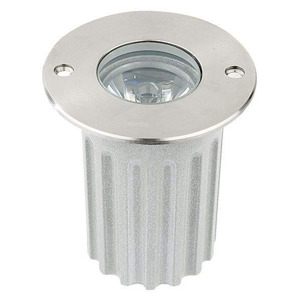 LED Süvistatav põrandavalgusti UG 05 hõbedane ring 3W  45° IP67 soe valge 3000K