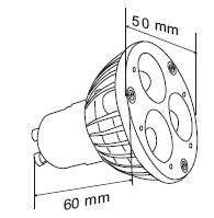 LED polttimo  MR16 Star 3x1  4W 200lm GU10 30° lämmin valkoinen 3200K