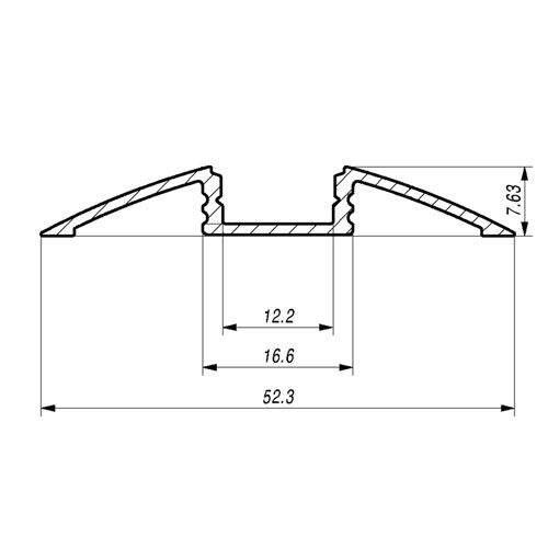Alumiiniprofiili  ALU Flat 2m