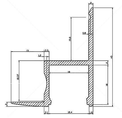 Алюминиевый профиль  ALU Ceiling 2m