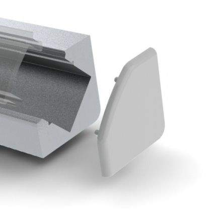 Alumiiniprofiili  ALU 45 otsakork kaabliavata, metall