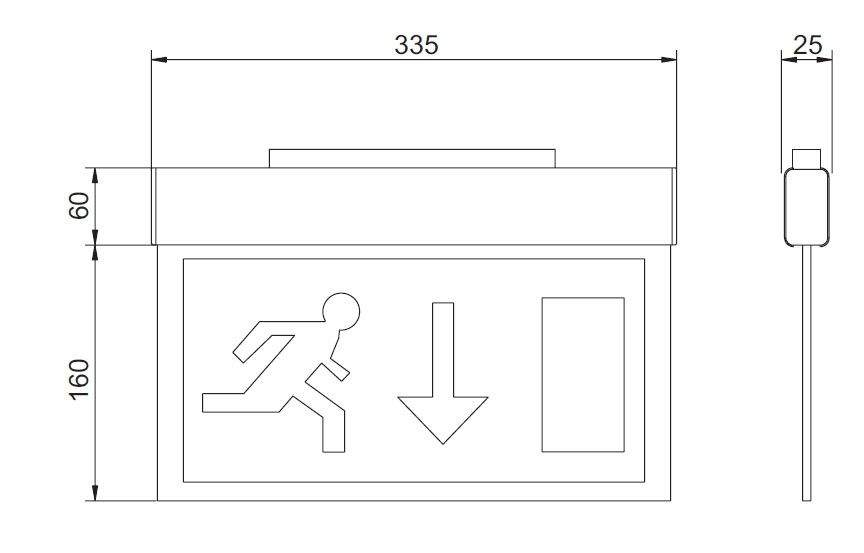 LED Turvavalgusti INTELIGHT LED Exit A/TA 3h  4W  IP20