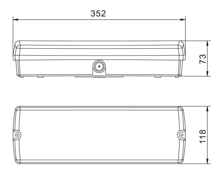 LED аварийный светильник LED Exit Orion A/TA 3h серый  3W  IP65