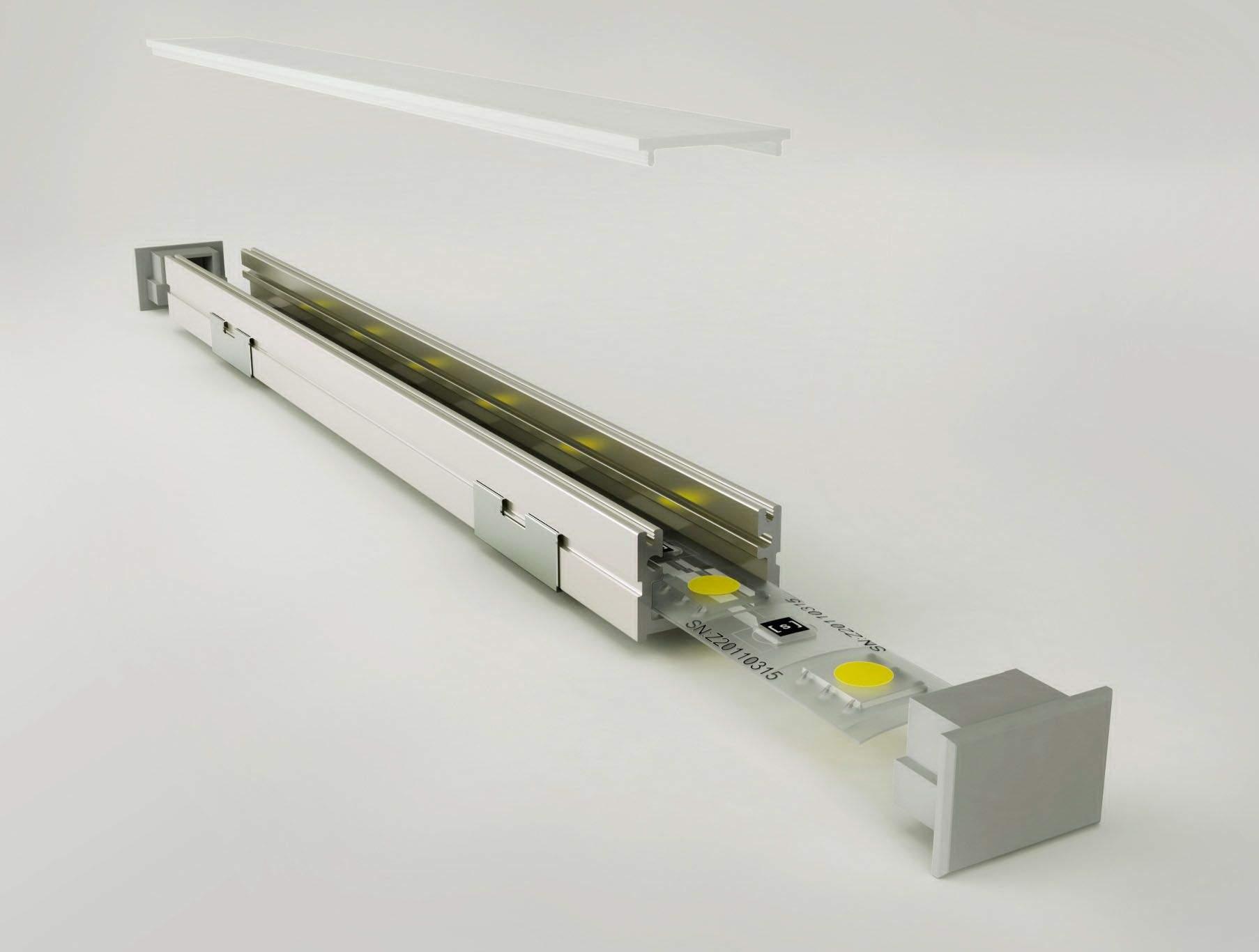 Алюминиевый профиль LUZ NEGRA Roma 2m серебряный