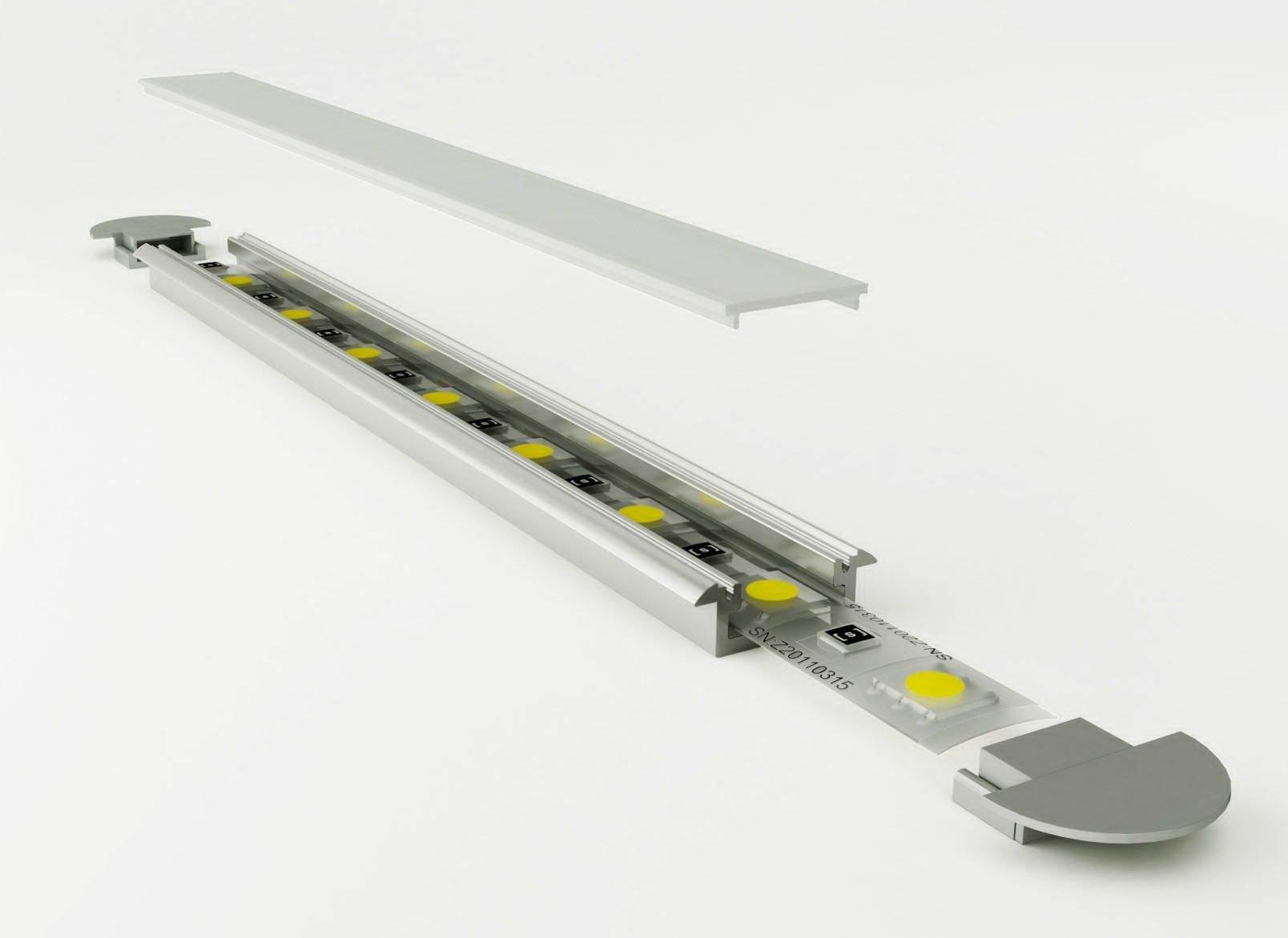 Alumiiniumprofiil Alumiiniumprofiil LUZ NEGRA Frankfurt 2m hõbedane