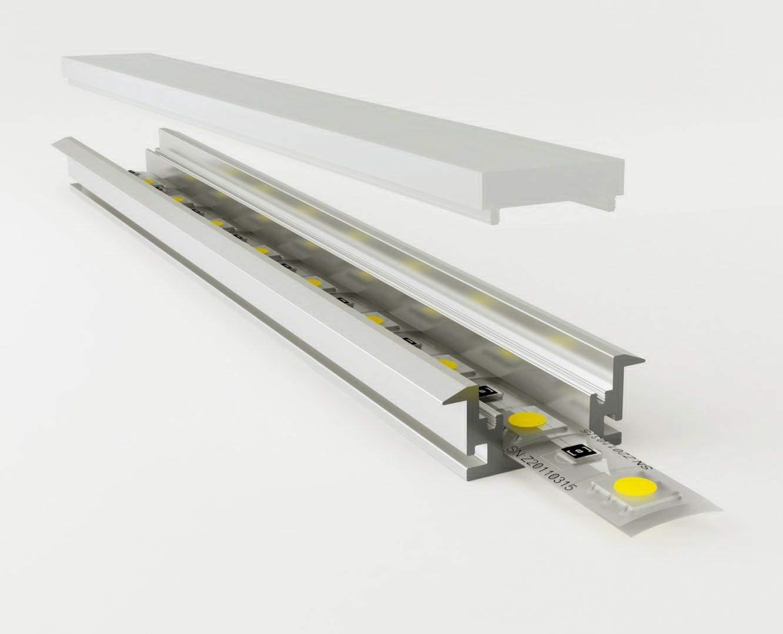 Alumiiniprofiili LN Dublin 2m hopea