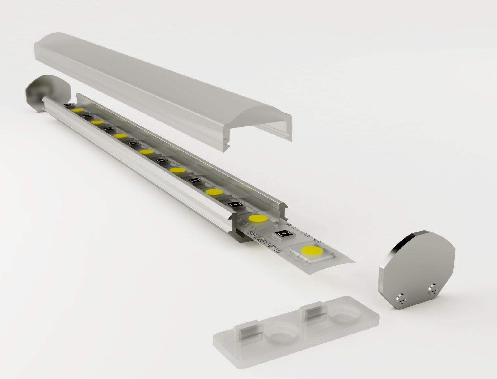 Alumiiniumprofiil LUZ NEGRA Torino 2m hõbedane