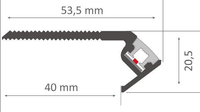 Алюминиевый профиль  LN Niza Eco 2,4m