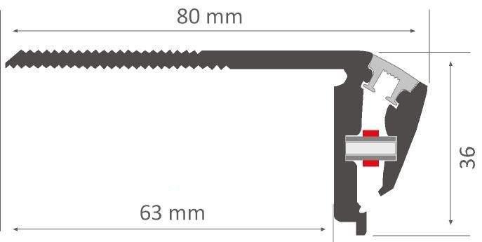 Алюминиевый профиль  LN Niza DUO 2,4m