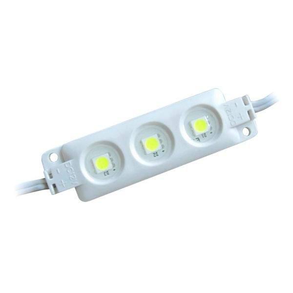 LED module  3 x SMD 5050 12V white  720mW 54lm  120° IP65 pure white 4000K