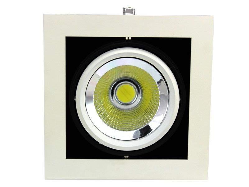 LED downlight  COB white square 20W 1600lm  25° warm white 3000K