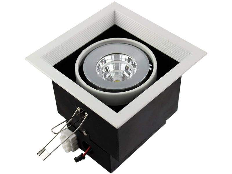 LED downlight COB Square  10W 800lm  30° IP40 warm white 3000K