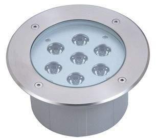 LED underground light  UG 15 silvery  24V 21W CRI80  45° IP67 3000K warm white
