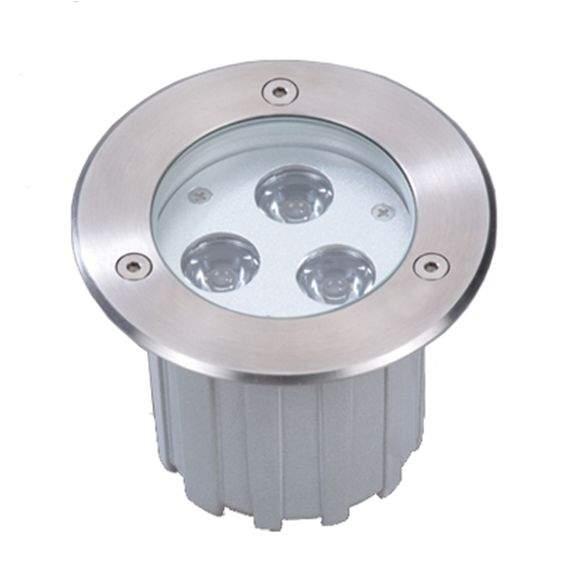 LED Süvistatav põrandavalgusti UG 10 hõbedane  9W  45° IP67 soe valge 3000K