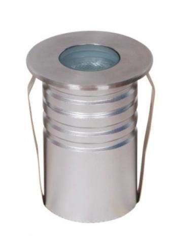 LED underground light UG 01 silvery round 3W  45° IP67 RGB