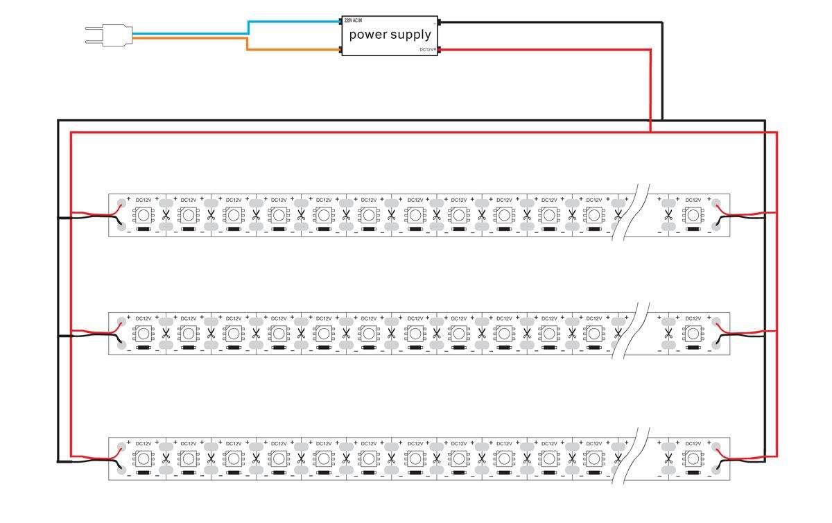 LED полоска 5050 72LED 1m 12V  17,2W 1296lm  120° холодный белый 6000K