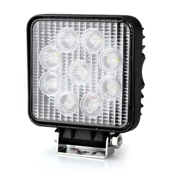 LED vehicle light REVAL BULB Square black 9-33V 27W 1480lm 30° IP67 6500K cold white