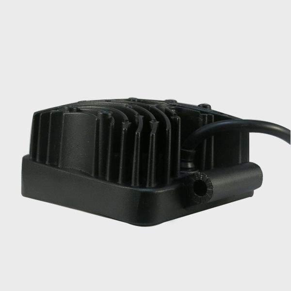 LED autovalo PROLUMEN Square 9-33V musta  27W 1480lm  30° IP67 kylmä valkoinen 6500K