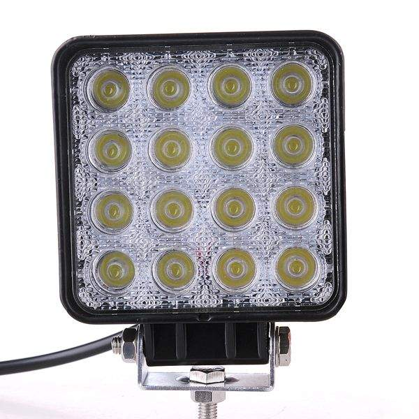 LED vehicle light Square black  48W 2480lm  30° IP67 cold white 6000K
