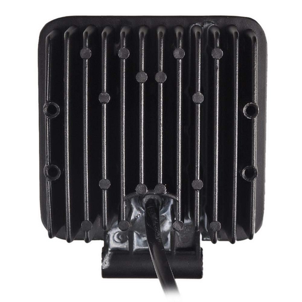 LED autovalo PROLUMEN Square 9-33V musta  48W 2480lm  30° IP67 kylmä valkoinen 6000K