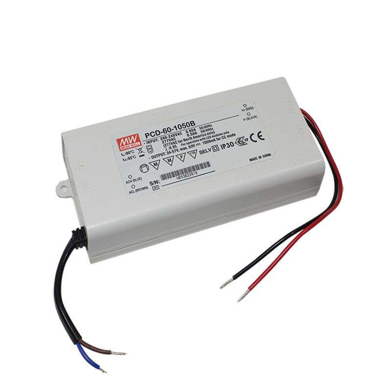 LED Driver 1050mA Mean Well PCD-60-1050B 34-57V  60W  IP42