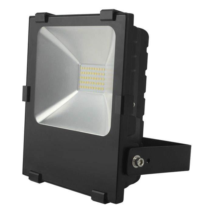LED floodlight  FL black  020W 2200lm  120° IP65 warm white 2700K