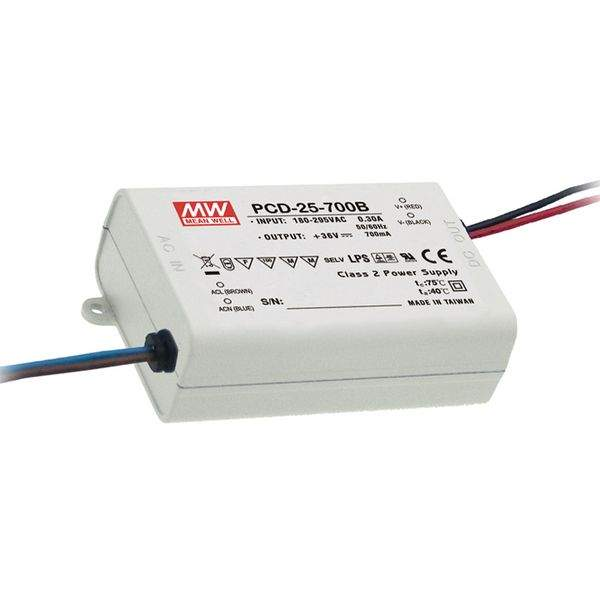LED Driver MEAN WELL 700mA  PCD-40-700B DIM  40W  IP42