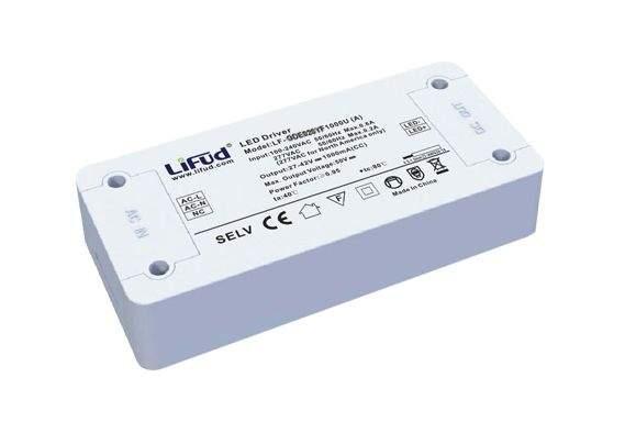 LED-liitäntälaite LIFUD 1000mA 27-42V LF-GDE042YF1000U DIM 0-10V 230V 42W IP20