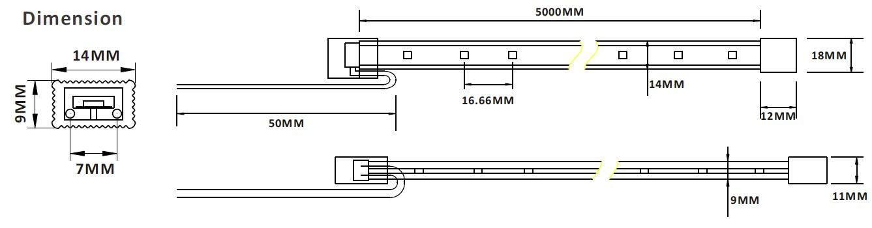 2835 60LED 1m silikoonvoolikus TPU 2G 24V  2,88W 220lm  120° IP68 soe valge 3000K