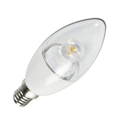 LED bulb C5 C37 candel white  6W 380lm E14 280° IP20 warm white 3000K