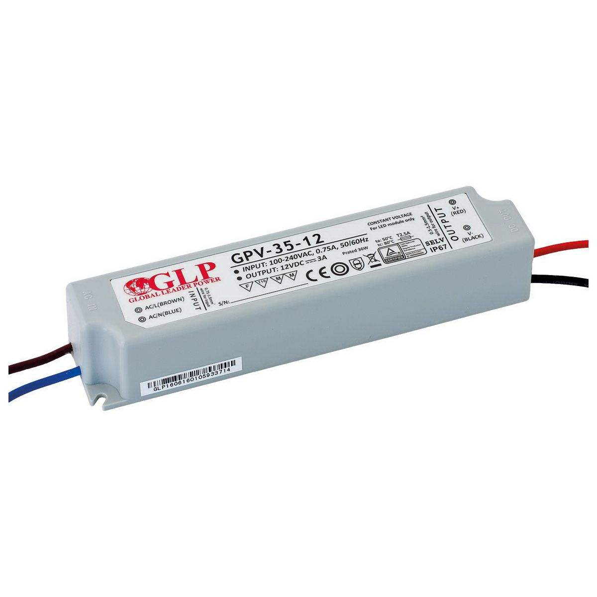 LED Toiteplokk LED Toiteplokk GLP POWER 12V DC GPV-35-12  36W  IP67