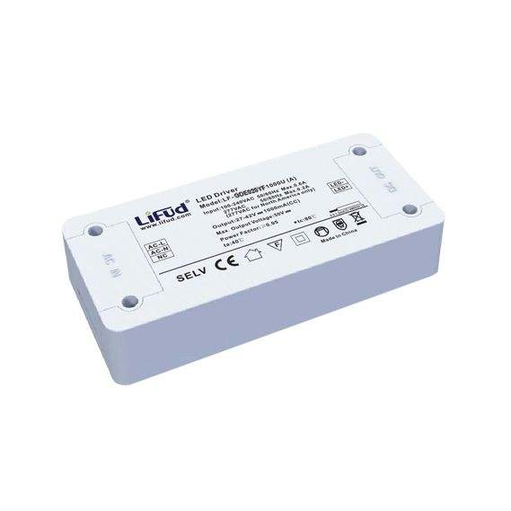 LED ajuri LIFUD 1500mA 27-42V LF-GDE060YF1500U DIM 0-10V valkoinen  65W  IP20