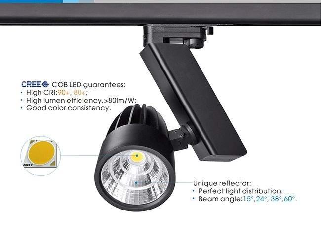 LED светильник на шине PROLUMEN Berlin черный  35W 3156lm  38° дневной белый 4000K