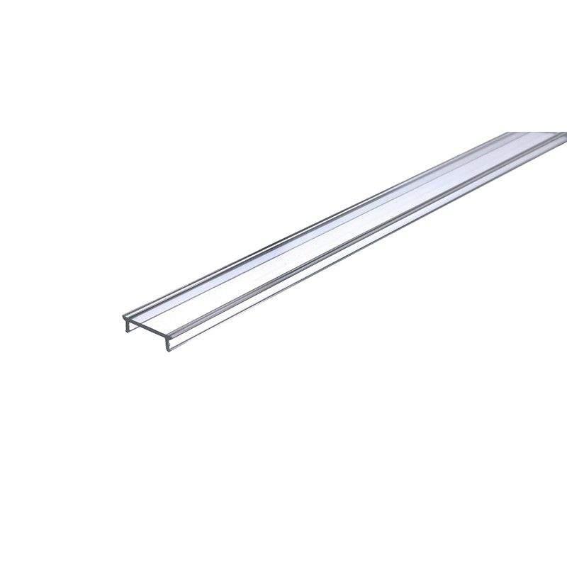 Крышка алюминиевого профиля ALU Flat 2m   transparent 97%
