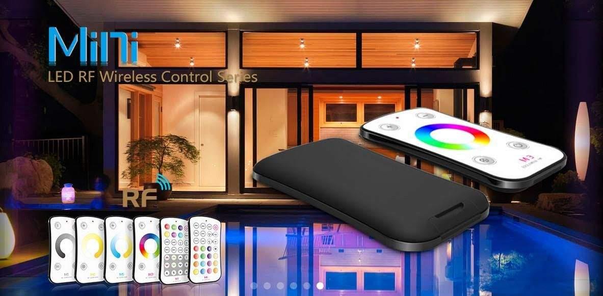 LED Riba pult + juhtplokk LTECH Mini 7 RGBW controller 5-24V valge  240/480W