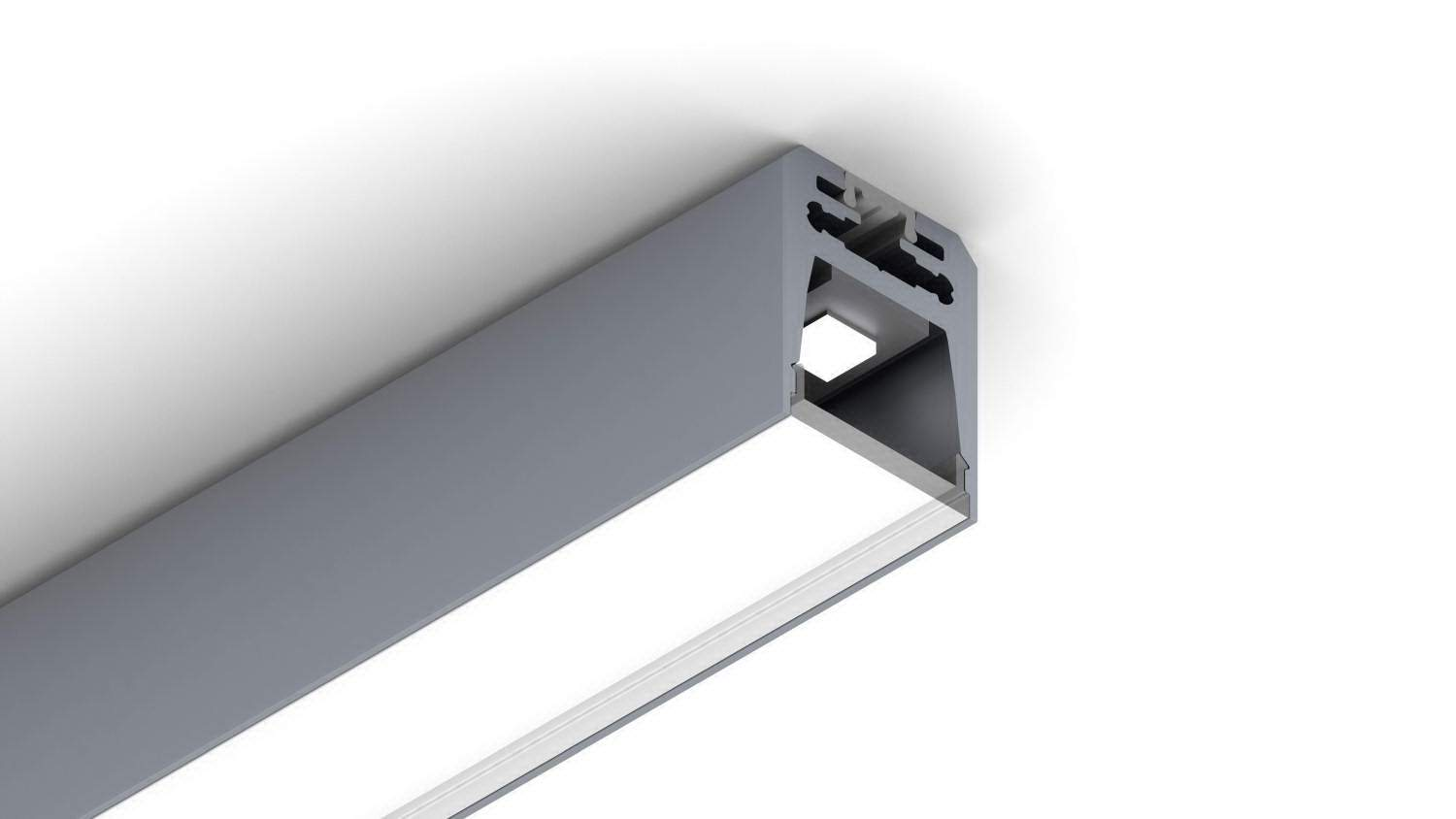 Aluminum profile cover Alu Swiss 20 transparent   frosted 75%