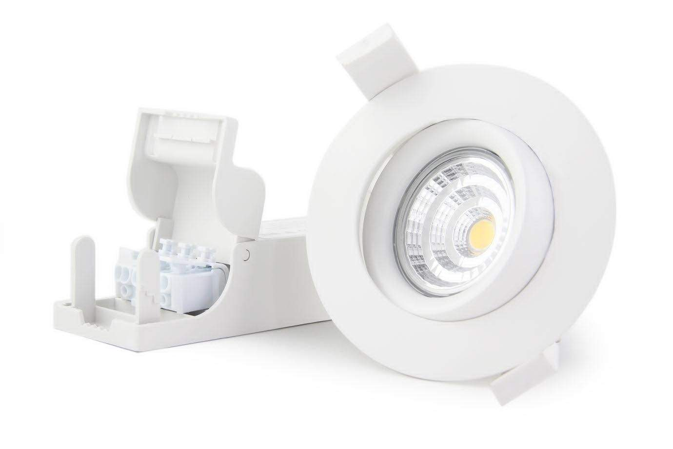 LED downlight LED downlight PROLUMEN Smart Plus 9WF DIM white round 9W 700lm CRI90 45° IP44 3000K warm white