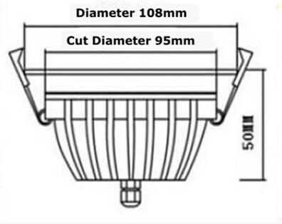 LED локальный светильник PROLUMEN XH белый круглый 15W 1350lm  120° IP65 теплый белый 3000K
