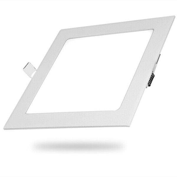 LED панель E6 белый квадрат 9W 480lm  160° дневной белый 4000K