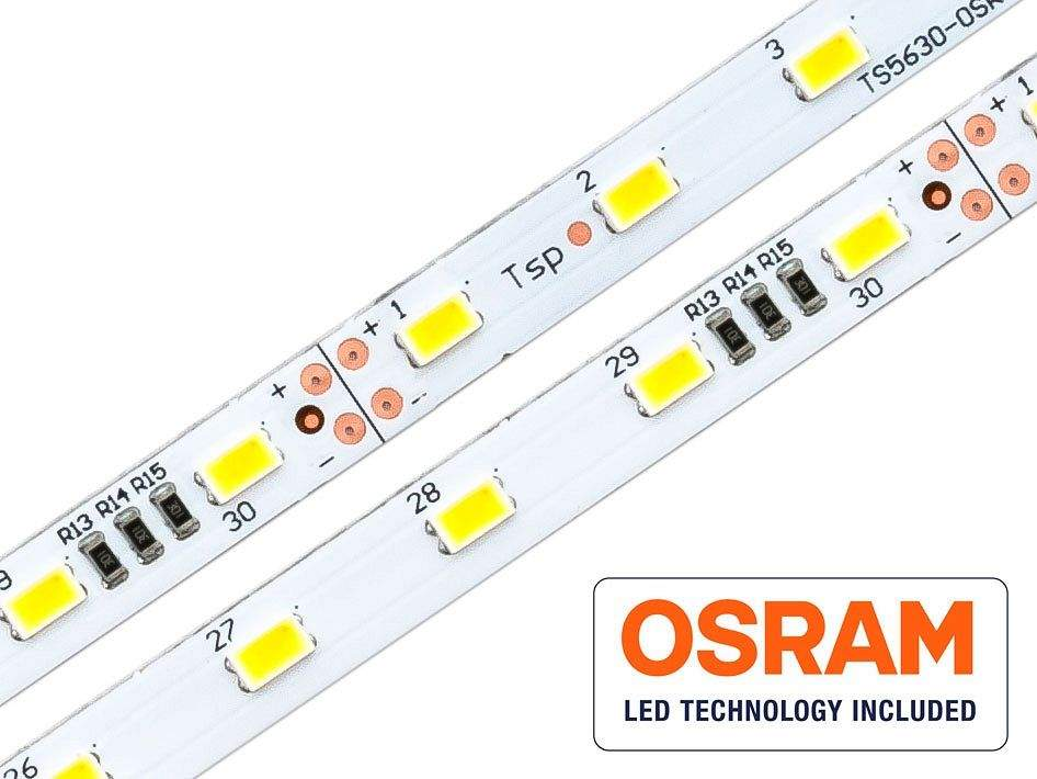 LED Riba OSRAM DURIS E5 1m 24V  15,6W 2100lm  120° IP20 soe valge 3000K
