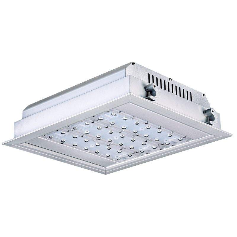 LED light for filling stations PROLUMEN QD silvery  120W 13200lm  90° IP66 warm white 3000K