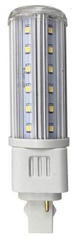 LED bulb G24 transparent  9W 810lm G24 360° warm white 3000K