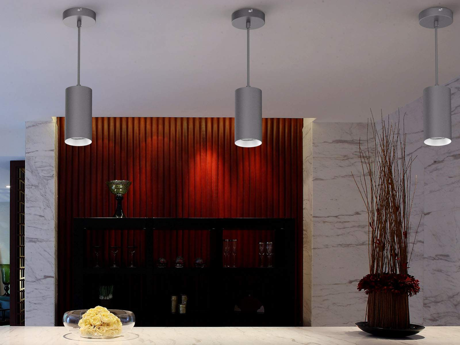 LED ceiling light PROLUMEN Valletta DIM black  25W 2100lm  24° IP20 warm white 3000K