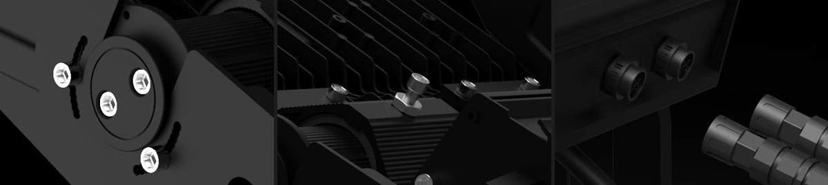 LED Prožektor PROLUMEN X Stadium F6 must  900W 117000lm  külm valge 5000K