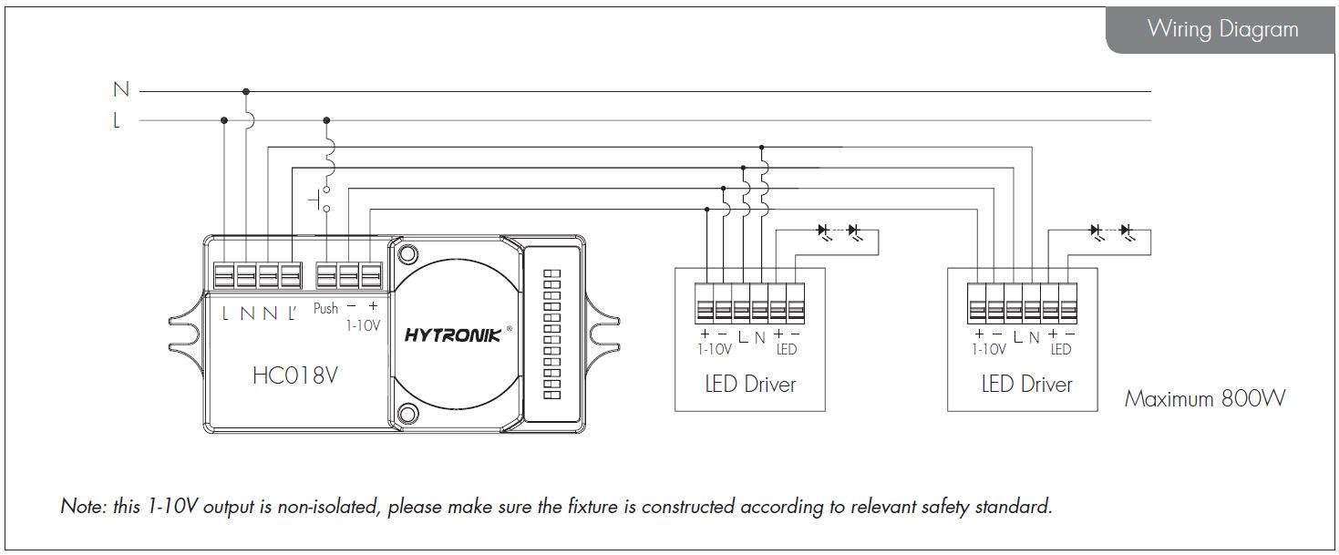 Датчик движения HYTRONIK RF HC018V 0-10V