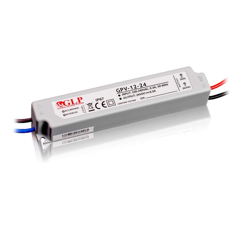 LED Toiteplokk GLP POWER 24V DC GPV-12-24  12W  IP67