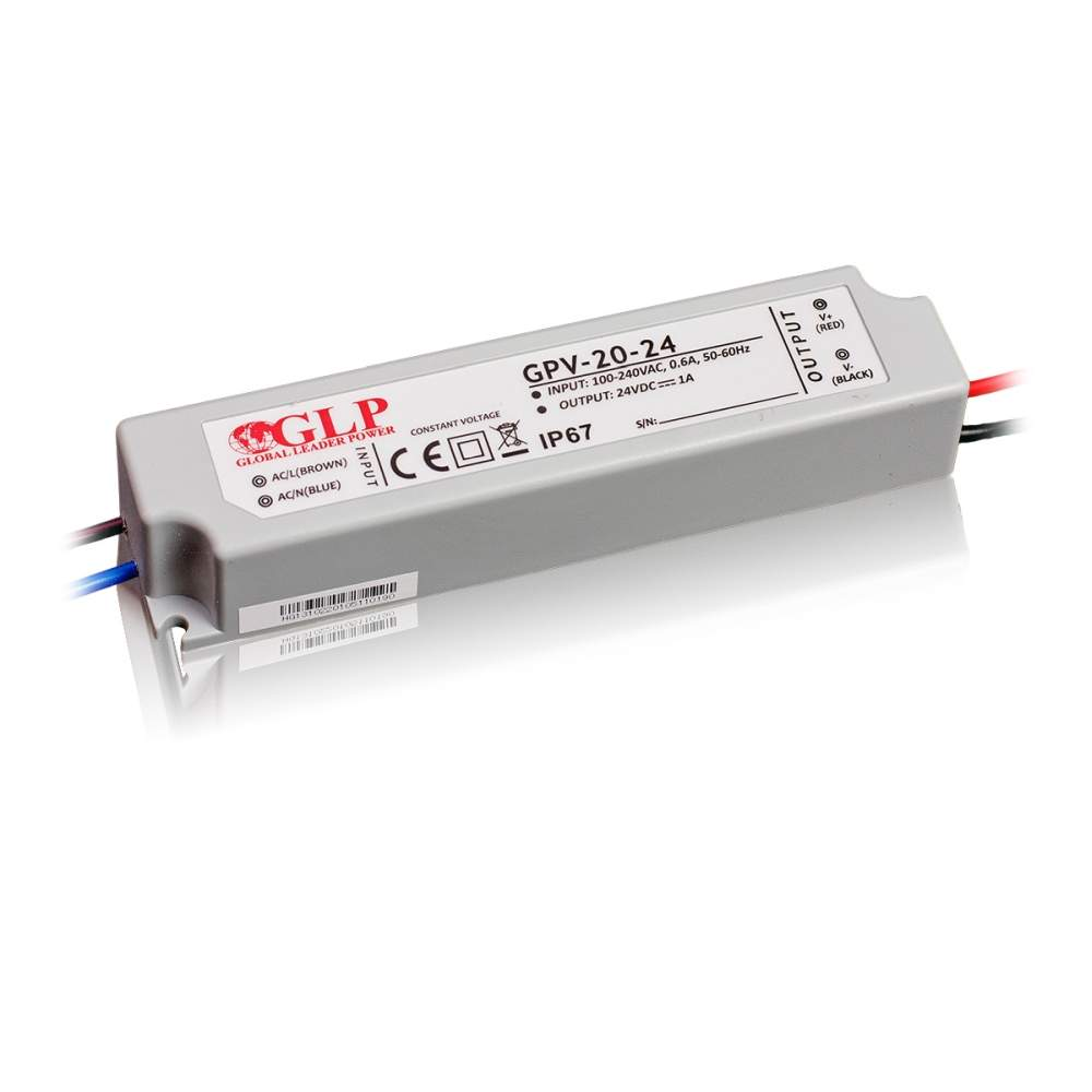 LED Toiteplokk GLP POWER 24V DC GPV-20-24  24W  IP67
