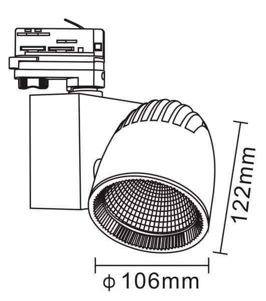 LED светильник на шине PROLUMEN Stockholm черный  40W 4000lm  45° дневной белый 4000K